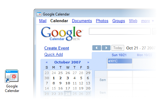 Google Kalendar über Prism