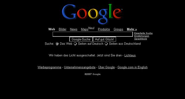 Google in Schwarz