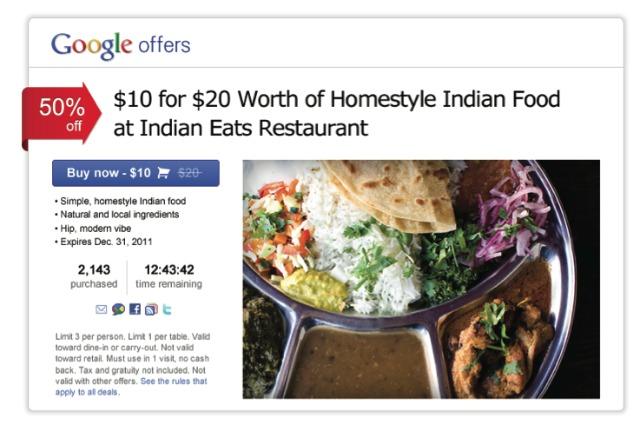 Vorschau auf Google Offers